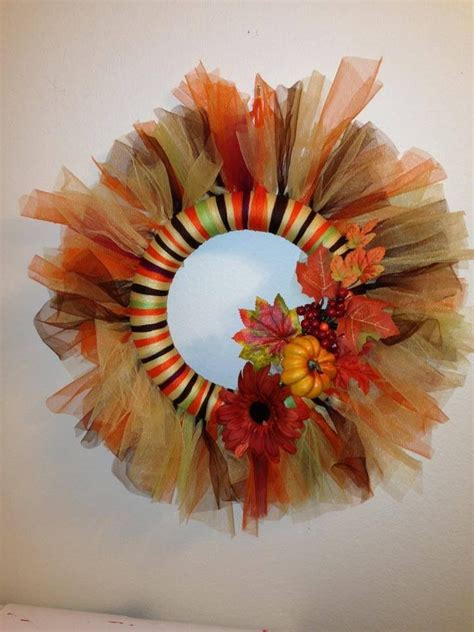 tulle craft projects the 25 best fall tulle wreath ideas on