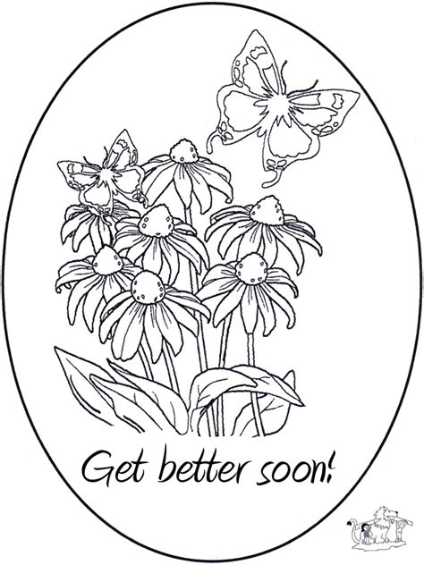 get well card coloring template beterschap 5 kleurplaten beterschap