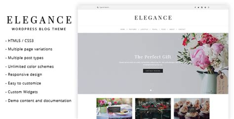 theme blog elegant elegance wordpress blog theme by lucidthemes themeforest