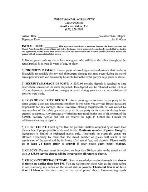 house rental agreement 4 sle house rental agreement teknoswitch