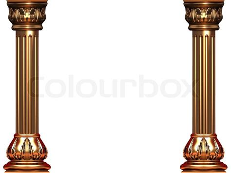 Home Building Plans And Prices gold ionic columns on white bg stock photo colourbox