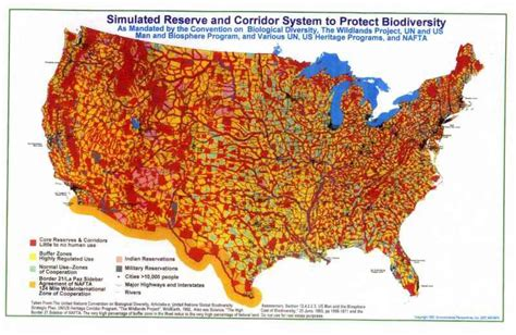 agenda 21 map of the united states activists mistake wildlands project map for agenda 21