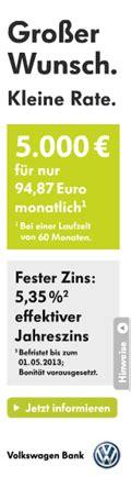vw bank direkt befristete aktion f 252 r den direkt kredit der volkswagen bank