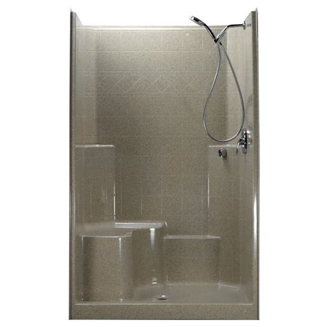Left Drain Shower Kit by Ella 48 In X 37 In X 80 In 1 Low Threshold Shower