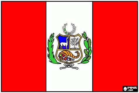 Peru S Flag Coloring Page Printable Peru S Flag Peru Flag Coloring Page