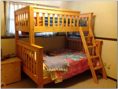 twin over queen bunk bed plans twin over full bunk bed plans beds home design ideas 9wpreqwq132980