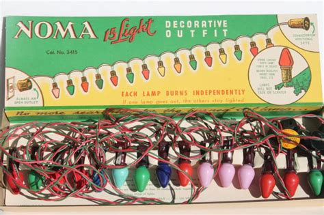 Vintage Noma Christmas Lights In Original Boxes A Tree Noma Tree Lights Not Working