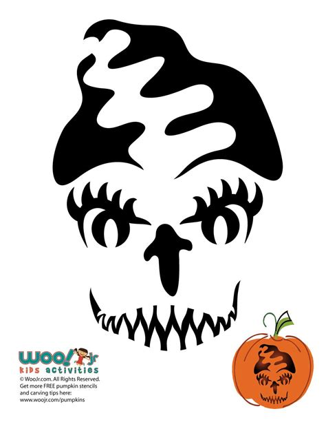 printable pumpkin stencils frankenstein bride of frankenstein pumpkin woo jr kids activities