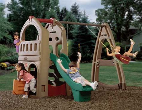 step 2 slide and swing combo playhouse climber with swing extension step2 plastic