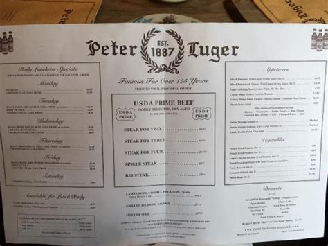 peter luger steak house new york メニュー picture of peter luger steak house brooklyn