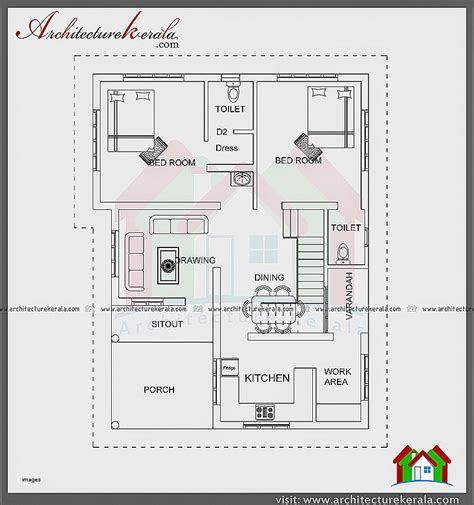 house layout images floor plan for 2bhk house in indian