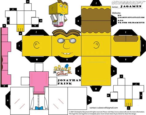 Simpsons Papercraft - simpsons arts and crafts
