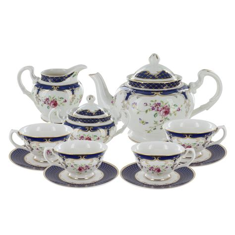 Coffee Set navy porcelain tea set