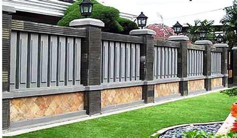 model pagar tembok rumah mewah minimalis desain model pagar tembok minimalis modern elegan