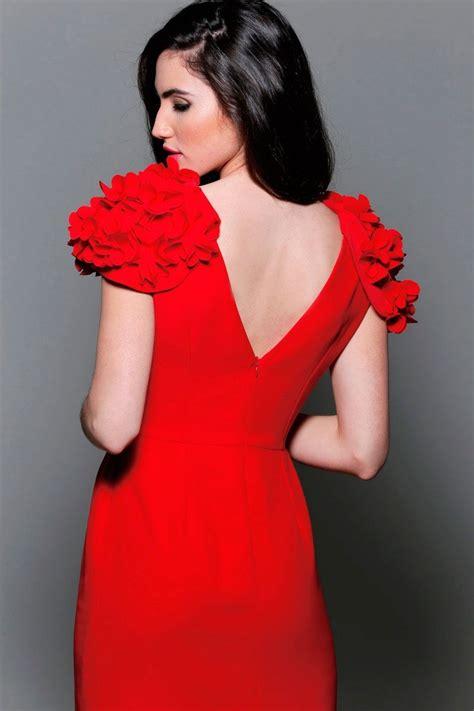 comprar vestidos de fiesta cortos vestido de fiesta corto rojo con alitas de flores para boda