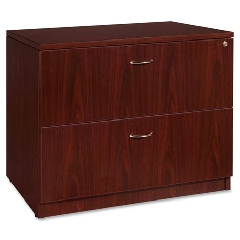 Lorell Essentials 2 Drawer Laminate Lateral Filing Cabinet Mahogany Lateral File Cabinet