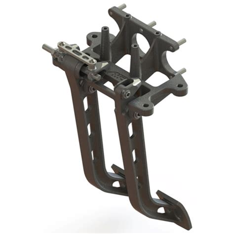 swing pedals afco 6610000 reverse mount dual swing brake clutch pedals