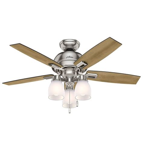 44 Inch Ceiling Fan With Light 44 Inch Fan Donegan Led Ceiling Fan With Light Brushed Nickel Finish 52230