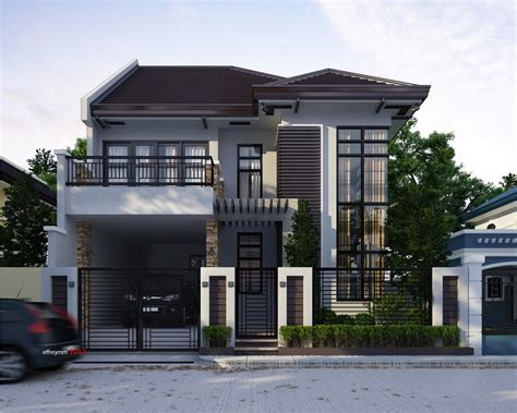 2 storey modern house design with floor plan modern house