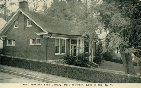 Port Jefferson Post Office by Library Postcards Free Library Port Jefferson