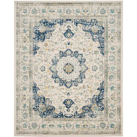 carleson ivory and blue rug safavieh evoke ivory blue 8 ft x 10 ft area rug evk220c