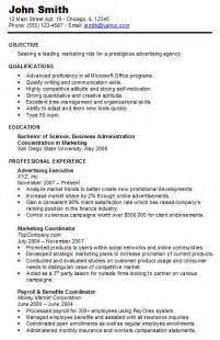 chronological resume resume cv template exles