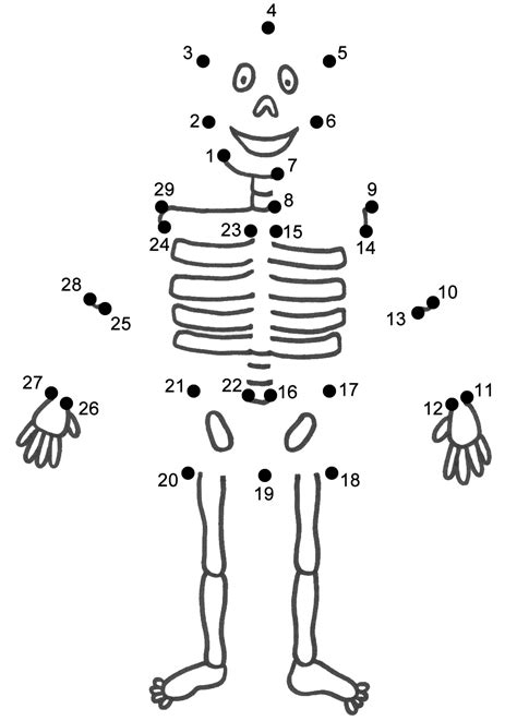 halloween coloring pages dot to dot skeleton connect the dots count by 1 s halloween