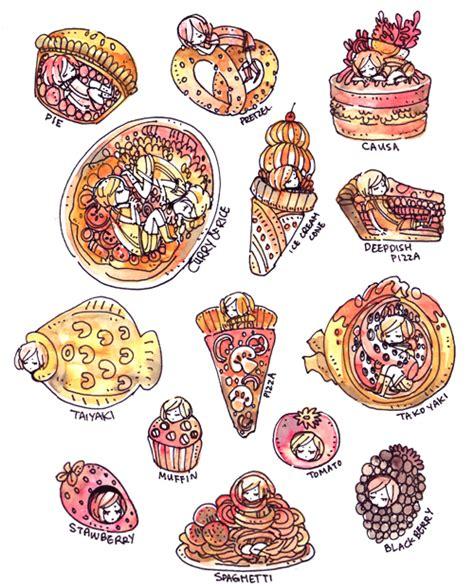 foodie doodle foodies 2 by koyamori on deviantart