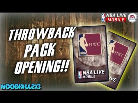 Pack Opening Mba Free by Nba Live Mobile Throwback Pack Opening