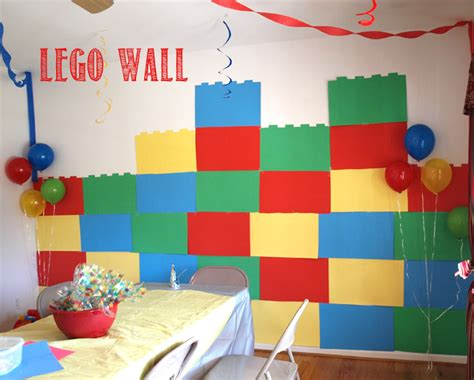 lego wall tutorial lego party ideas rebecca autry creations