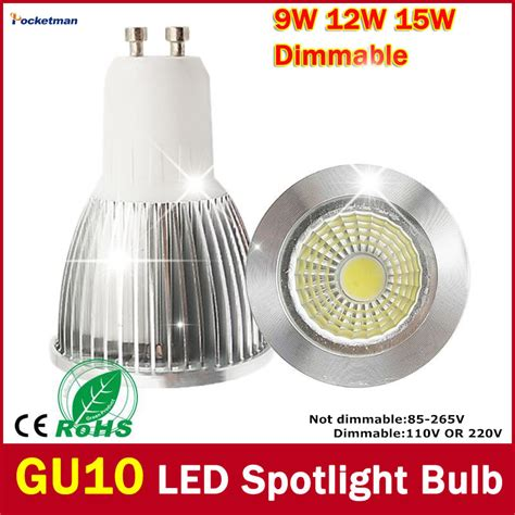 Cheap Dimmable Led Light Bulbs Wholesale Bright 7w 12w 15w Gu10 Led Bulb Light 110v 220v Dimmable Led Spotlights Warm