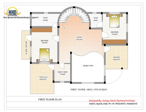 floor plan for duplex house duplex house plan and elevation 3122 sq ft kerala