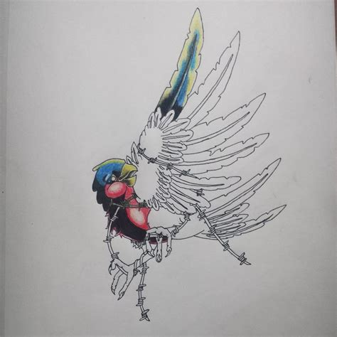new design of tattoos new school bird designs