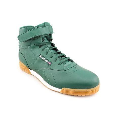 size 14 athletic shoes reebok s exofit hi clean logo regular suede athletic