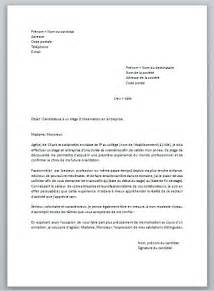 modele lettre de motivation stage observation document