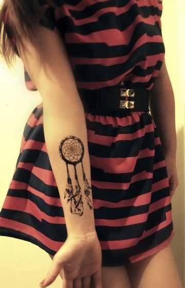 dreamcatcher lower arm tattoo dream catcher sleeve tattoo ideas and dream catcher sleeve