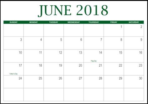 free printable blank calendar june 2018 free june 2018 calendar in printable format templates