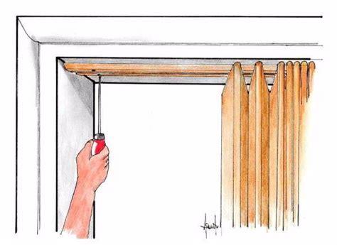 montaggio porte a soffietto porta a soffietto per piccoli spazi montaggio fai da te