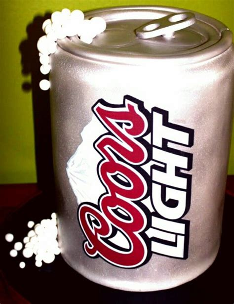 pin pin coors light can cake by ccs cakesdecorcom