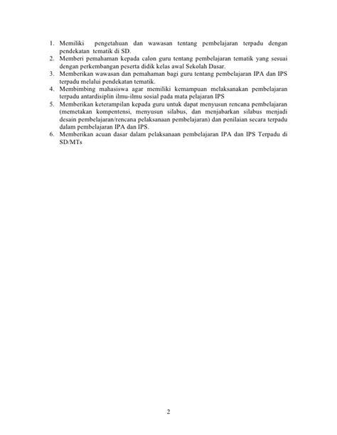 Ips Sosial Terpadu 3 Sd silabus pembelajaran terpadu kelas 3 sd