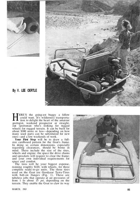 vintage  kart mini bike plans