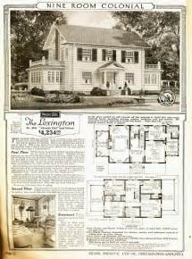 Two Story Colonial House Plans The Sears Lexington A Real Class Act Sears Modern Homes