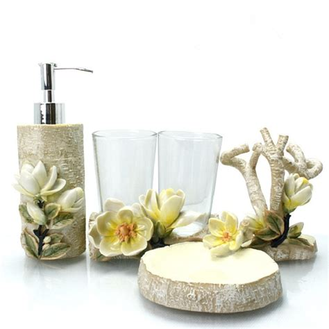 elegant bathroom sets flower bathroom accessories european tooth brush holder