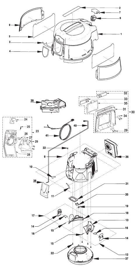rainbow vacuum parts diagram rexair rainbow e2 2 speed repair parts diagrams
