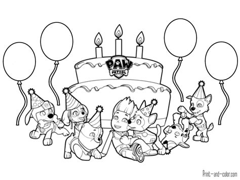 Paw Patrol Coloring Pages Print And Color Com Color Coloring