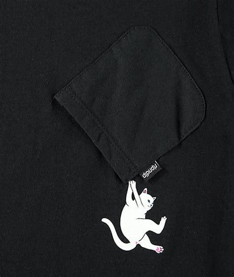 Exclusive Kaos T Shirt Ripndip Hang In There Army Green Recomended ripndip hang in there nermal black pocket t shirt zumiez