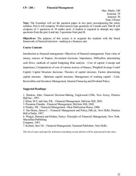 Kuk Mba Syllabus Pdf by Kuk Mba Ordinance Scheme And Syllabus W E F 2012 13