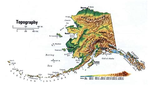 us map alaska state large topography map of alaska state alaska state usa