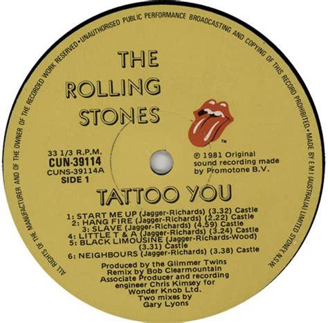 the rolling stones tattoo you rolling stones records 1c rolling stones tattoo you australian vinyl lp album lp