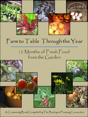 farm to table cookbook farm to table through the year e book announcement the
